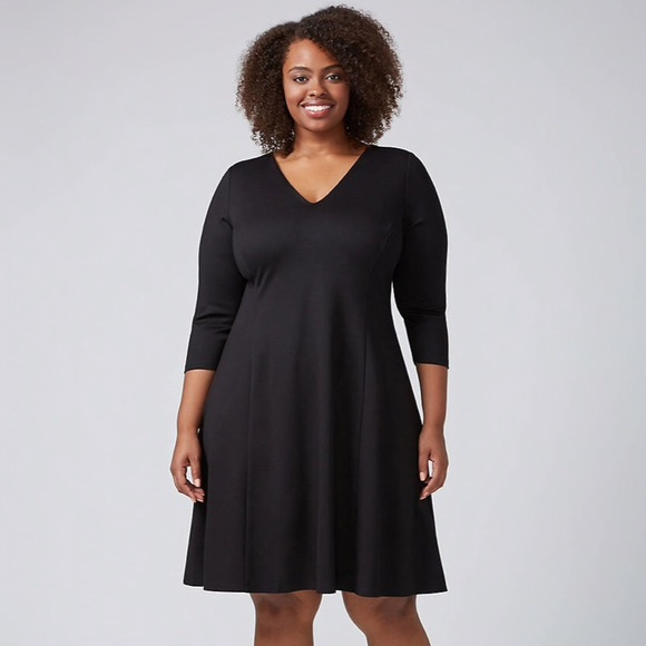 80f2bac7e65 Nwt Lane Bryant Fir Flare Lbd Little Black Dress